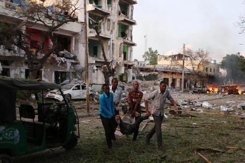حمله تروریستی گروه الشباب به یک هتل در شهر موگادیشو سومالی