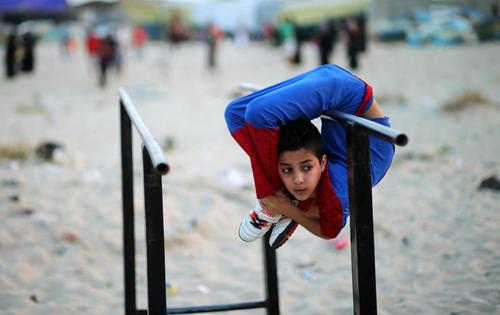 محمد الشیخ نوجوان 12 ساله ساکن غزه که به