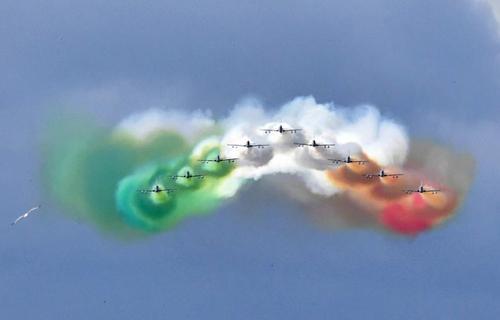 نمایش هوایی در رم در سالگرد تاسیس جمهوری ایتالیا