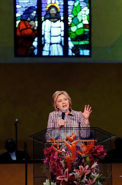 سخنرانی هیلاری کلینتون در کلیسای باپتیست ها در اوکلند کالیفرنیا