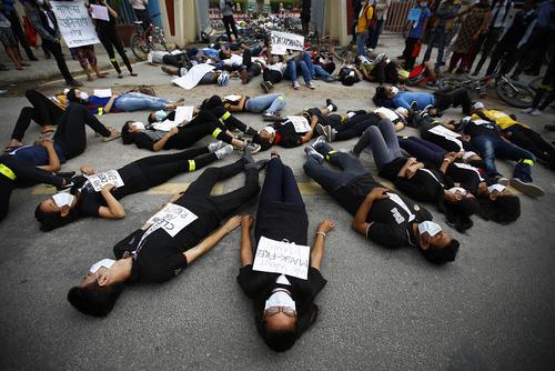 اعتراض فعالان به تخریب محیط زیست در روز جهانی محیط زیست – کاتماندو نپال