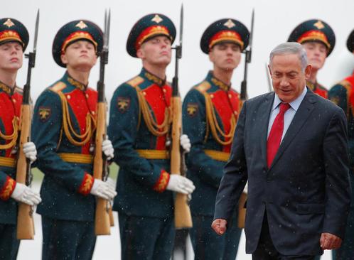 استقبال رسمی از نخست وزیر اسراییل در فرودگاه مسکو