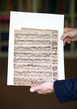 """نسخه خطی کمیاب از """"یوهان سباستین باخ"""" موزیسین مشهور آلمانی قرن هجدهم که بین 1.9 تا 2.5 میلیون یورو برای حراج کریستی در هامبورگ قیمت گذاری شده است"""