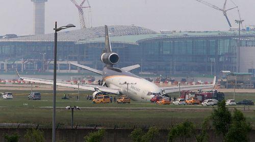 سانحه برای یک هواپیمای مسافربری در فرودگاه شهر اینچئون کره جنوبی