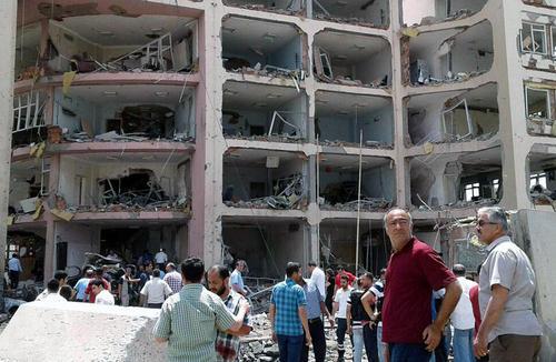 انفجار تروریستی در شهر کردنشین مدیات در استان ماردین ترکیه