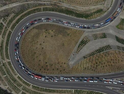 ترافیک در جاده های چین