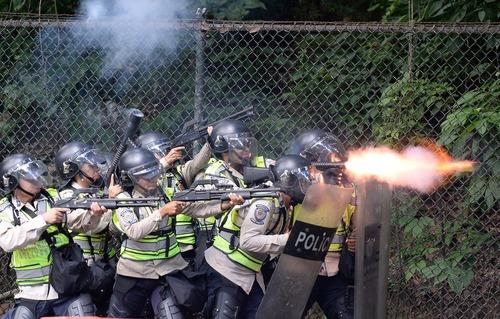 ادامه اعتراضات ضد دولتی در شهر کاراکاس ونزوئلا