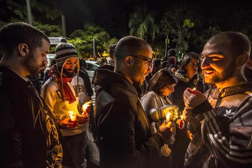 ابراز همدردی با قربانیان حادثه تیراندازی اورلاندو آمریکا – سائوپائولو برزیل