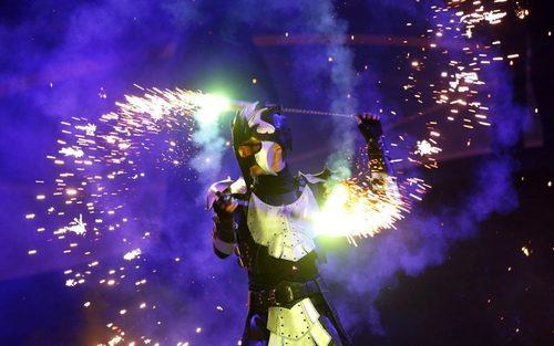 جشنواره آتش در شهر کی یف اوکراین