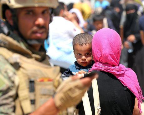 اردوگاه آوارگان جنگی در حومه شهر فلوجه عراق