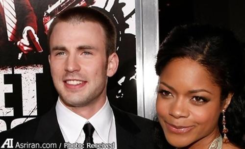 کریس ایوانز بازیگر مشهور آمریکایی با نائومی ملانی هریس بازیگر سینما و تلویزیون بریتانیا ازدواج کرده است