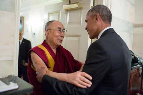 دیدار اوباما با دالایی لاما در کاخ سفید