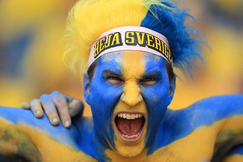 طرفداران تیم ملی فوتبال سوئد در بازی این تیم مقابل ایتالیا در استادیوم شهر تولوز فرانسه – یورو 2016