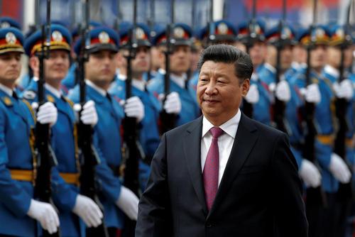مراسم استقبال رسمی از رییس جمهور چین در بلگراد صربستان