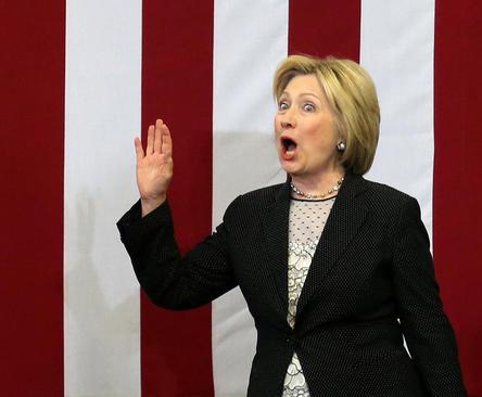سخنرانی هیلاری کلینتون نامزد دموکرات انتخابات ریاست جمهوری آمریکا در جمع حامیانش در کلمبوس اوهایو