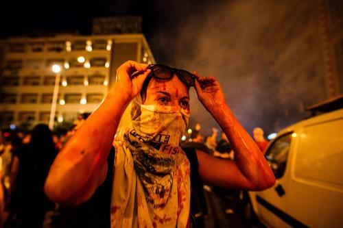 تظاهرات ضد دولتی در شهر اسکوپچه مقدونیه