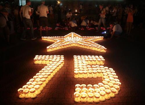 مراسم هفتادوپنجمین سالگرد تهاجم آلمان نازی به شوروی در بندر سواستوپول در شبه جزیره کریمه