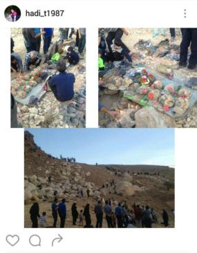 نی ریز فارس -  تجمع مردم در محل حادثه