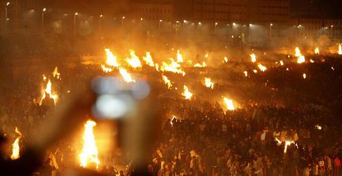 جشنواره آتش در شب در گالیسیا اسپانیا