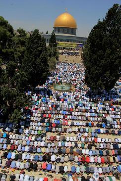 آخرین نماز جمعه ماه رمضان در مسجد الاقصی