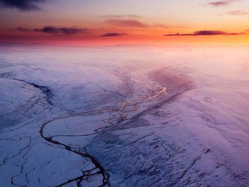 غروب آفتاب در ایسلند