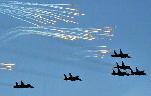 نمایش هوایی در سالروز استقلال بلاروس – مینسک