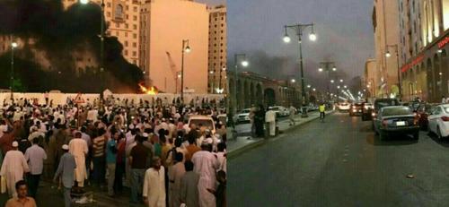 انفجار انتحاری در نزدیکی مسجد النبی در شهر مدینه / عربستان سعودی