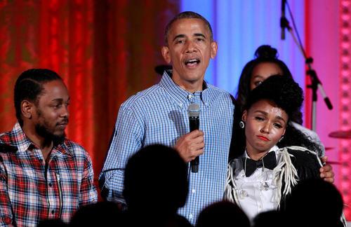 جشن سالروز استقلال آمریکا و تولد هجده سالگی دختر بزرگ اوباما در کاخ سفید