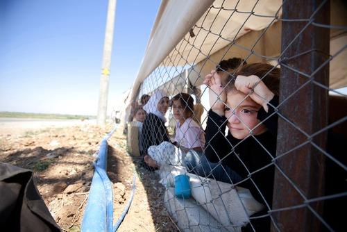 اردوگاه آوارگان سوری در مرز ترکیه