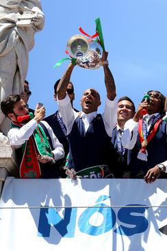 مراسم استقبال از تیم ملی فوتبال پرتغال در شهر لیسبون