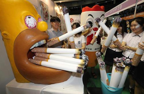 تبلیغات ضد مصرف دخانیات در مدارس سئول