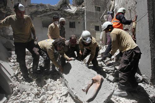 حمله هوایی به ادلب سوریه