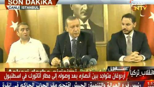 آغاز سخنرانی اتاتورک در فرودگاه اتاتورک استانبول