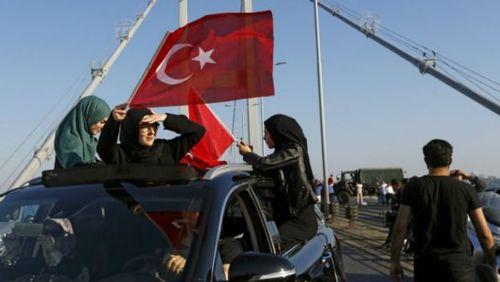شماری از حامیان دولت اردوغان در استانبول