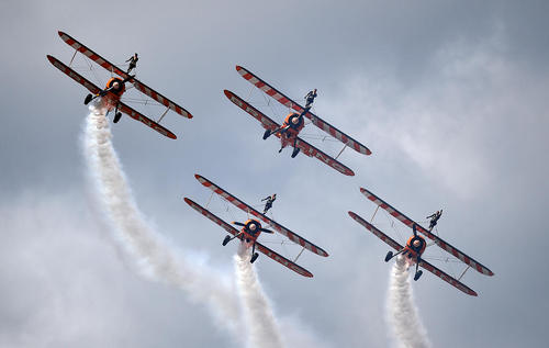 نمایش سالانه هوایی در همپشایر بریتانیا
