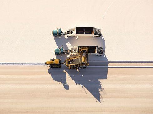 دریاچه بزرگ نمک در ایالت یوتا آمریکا