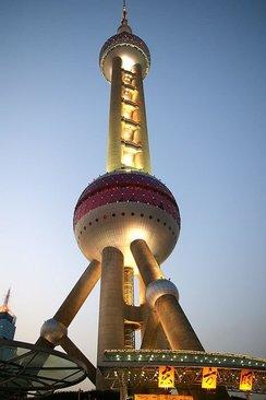 برج اورینتال پرل چین- ارتفاع برج: 468 متر