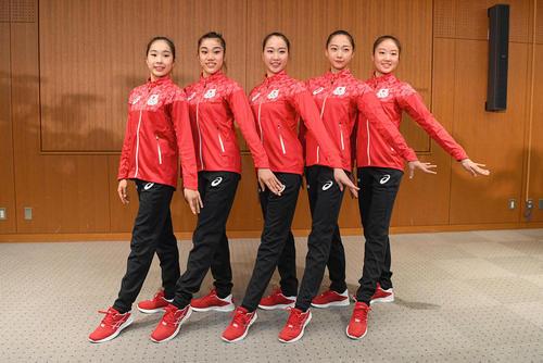 نشست خبری اعضای تیم ملی ژیمناستیک ریتمیک ژاپن اعزامی به المپیک ریودو ژانیرو برزیل - توکیو