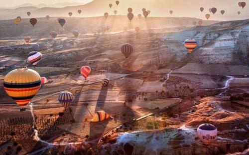 جشنواره بالن در شهر توریستی کاپادوکیا در ترکیه