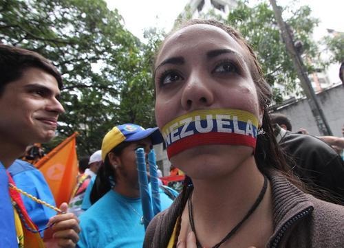 برگزاری تظاهرات علیه قحطی و کمبود مواد غذایی و رییس جمهور مادورو در پایتخت ونزوئلا