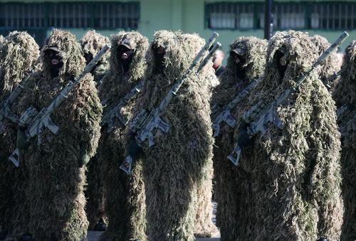 رزمایش ضد تروریستی سربازان ارتش اندونزی در استان آچه