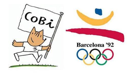 بارسلونا با لوگویی به نام کوبی به استقبال المپیک ۱۹۹۲ رفت.