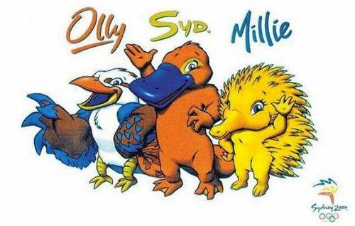 اولی، سید و میلی نام لوگو المپیک ۲۰۰۰ سیدنی بود.