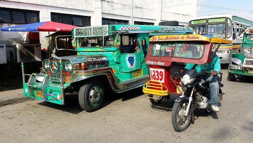 تاکسی موتورهای سه چرخه در خیابان های فیلیپین