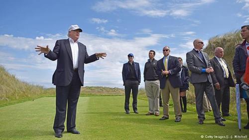 ترامپ زمین گلفش در اسکاتلند را