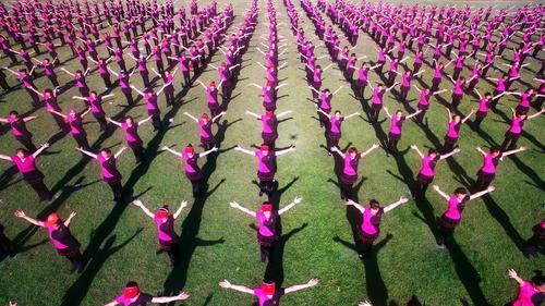تمرینات بدنی در روز ملی تناسب اندام – چین