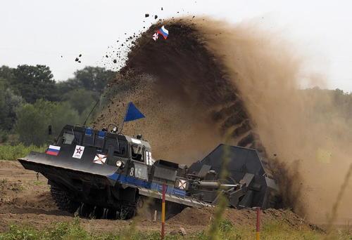 مرحله مسابقات واحدهای مهندسی در مسابقات ارتش های جهان در ولووگراد روسیه