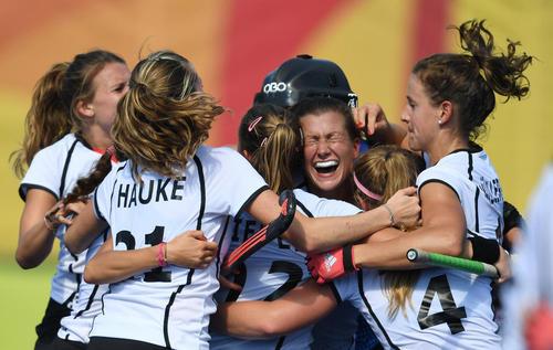 شادمانی تیم هاکی آلمان از پیروزی در برابر تیم هاکی آمریکا – المپیک ریو
