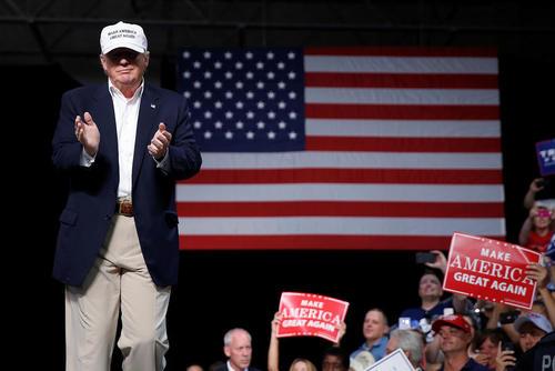 سخنرانی دونالد ترامپ نامزد جمهوریخواه انتخابات ریاست جمهوری آمریکا در جمع هوادارانش در شهر دیموندیل در ایالت میشیگان