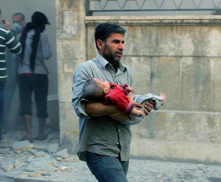 ادامه تلفات غیر نظامیان در درگیری های نظامی در شهر حلب سوریه